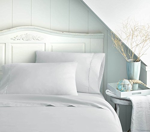 Bed Sheet Set by Becky Cameron Bedding - Deep Pocket Sheets - 1800 Series 4 Piece Set - Full - White