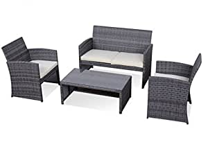 SKB Family 4 pcs Outdoor Rattan Sofa Furniture Set
