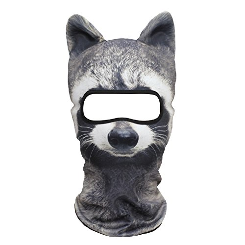 JIUSY 3D Animal Ears Balaclava Breathable Cover Hood Face Ma