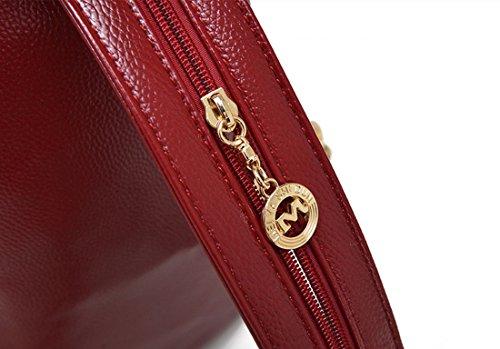QPALZM Mode Süß Lady Multifunktions Dual Schultern Chest Pack Wild Klassik Handtaschen Messenger Bag,Winered