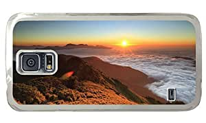 Hipster Samsung Galaxy S5 Case crazy mountains sunset panorama PC Transparent for Samsung S5