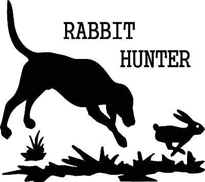 Costumes Diy Trailer Park Boys (Rabbit Hunter Dog Hunting Car Truck SUV RV Trailer Window Decal Man Cave)