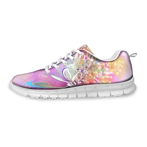 Bigcardesigns Femmes Design De Mode Chaussures De Course Baskets Lacent Floral 2