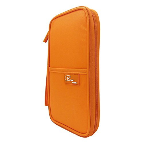 P.travel Passport wallet Oxford Orange with RFID Stop by P.travel (Image #2)