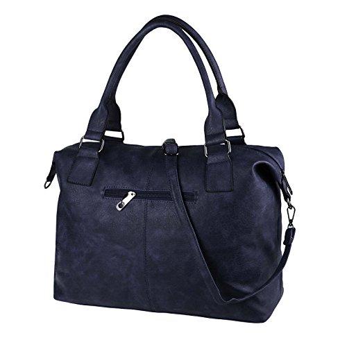 OBC Only-Beautiful-Couture - Bolso estilo bolera para mujer marrón coñac in cm ca.: 52x36x14 (BxHxT) azul oscuro