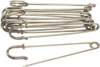 - Sea Star 30pcs Silver 2inch Steel Safety Pins - Blankets, Skirts, Kilts, Craft(2inch, Silver)