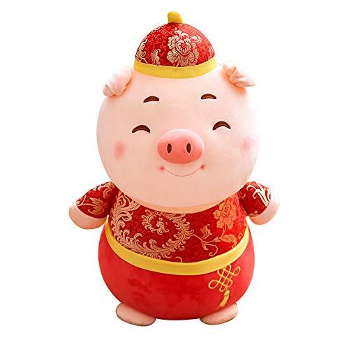 Muabobo 2019 Chinese New Year Pig Zodiac Mascot Dolls Plush Stuffed Animal Toys for Activities Party Gift