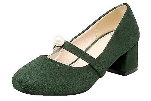 Tacco Esercito Ballet Donna Verde Puro Tirare Medio AllhqFashion FBUIDD005858 Flats EWqO8Ef