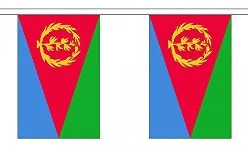 Eritrea Flag 9m Bunting 22cm x 15cm (9