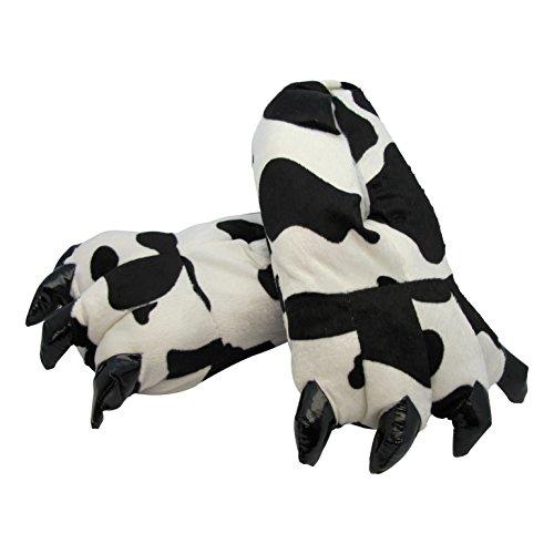 TierPlüsch - Zapatillas de estar por casa de Material Sintético para mujer vaca