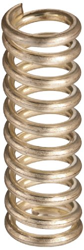 """Silver-Coated Beryllium Copper Compression Spring .300"""" OD x .045"""" Wire Size x 0.975"""" Free Length"""