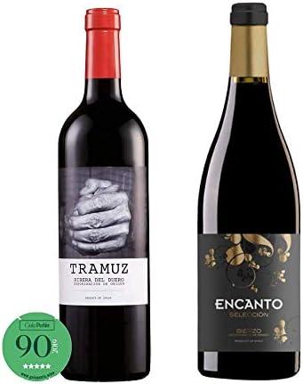 Pack de vinos para regalo - Vino tinto Carles Priorat 2017, Encanto 2018, Tramuz 2019, Fincas del Lebrel 2017, I Verdejo Rueda la Buena Pintá 2018