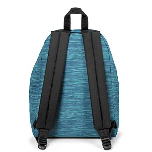 Eastpak Hombre Mochila acolchada Pak'R Logo, Negro Azul (Knit Blue)