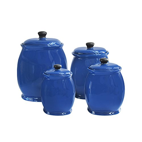 Amazing American Atelier 4Piece Canister Set Blue, , Blue