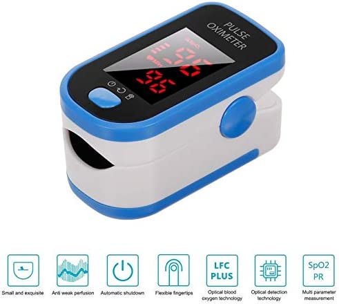 Decdeal Digital Fingertip Testing Tool Fast Reading Finger+Body Temperature Measurement Tool Handheld Non-Contact LCD Digital Display Temperature Measure Tool