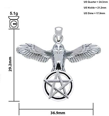 18in to 24in 0.925 Sterling Silver Flying Phoenix Pendant Necklace