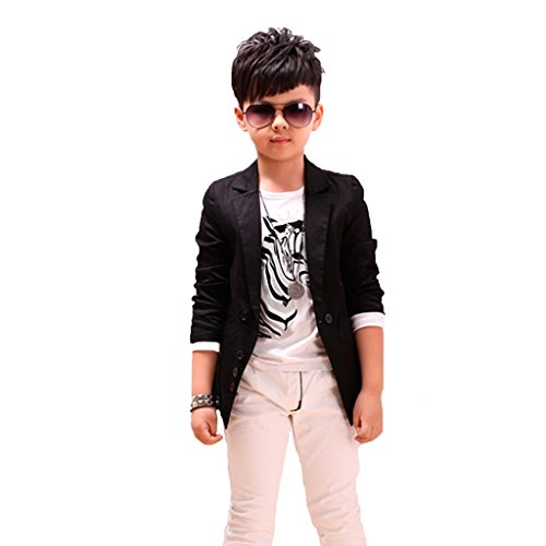 GETUBACK Boys' Fashion Blazers Casual Jackets US 10 Black