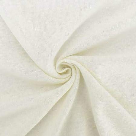 Amazon.com: Cream Ivory Slub Cotton/Linen Jersey Knit, Fabric by ...