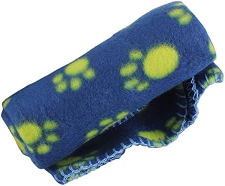 Pinzhi roditori cucciolo di cane gatto gattino morbido coperta Doggy Paw Print Warm Bed Mat cuscino