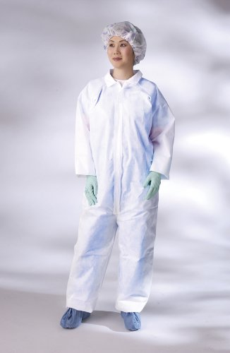 Medline NONCV300XXL Microporous Breathable Coveralls, Straight Wrist/Ankle, XX-Large, White (Pack of 25)