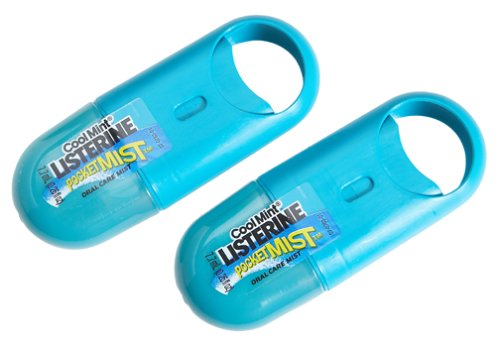 New Cool Mint Listerine Pocket Mist 2Packs of 7.7ml (0.26floz)