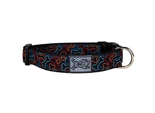 "RC Pet Products 3/4"" Adjustable Dog Clip Collar, Small, Bones"
