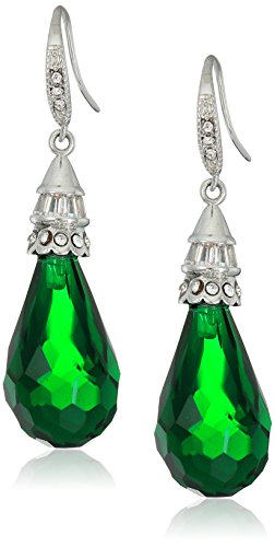 Carolee-Wall-Street-Emerald-Pierced-Drop-Earrings