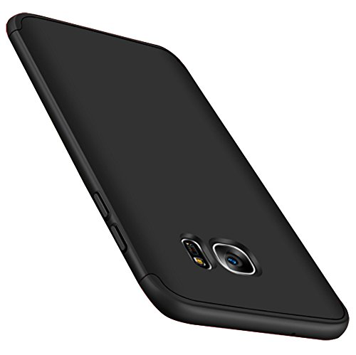 kapa double dip full protection back case cover shell for samsung galaxy s7 edge   black   Black