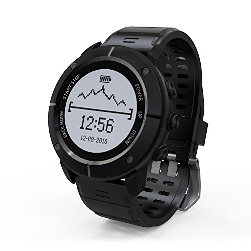 HAMSWAN Sport Watch, UW80 GPS Smart Watch IP68 Waterproof Running Watch Bluetooth Fitness Tracker with 11 Sports Mode Dynamic Heartbeat Rate for Outdoor Enthusiasts/Explorers (Black) by HAMSWAN