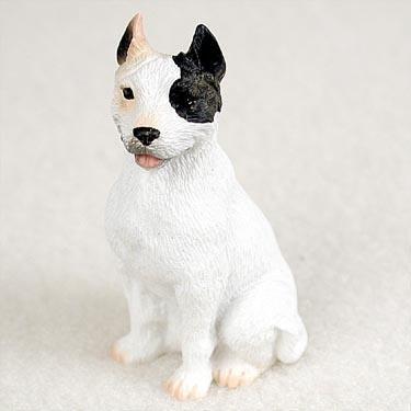 Pit Bull Terrier Miniature Dog Figurine - White