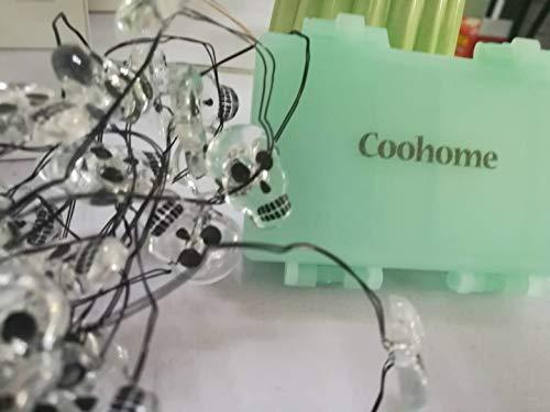 Coohome Halloween Lights, 40 Halloween Skull Lights with