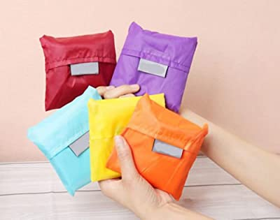 BONAMART ? 10 Assorted Colors strawberry Reusable Foldable Shopping ECO Bags pouch shoulder Tote
