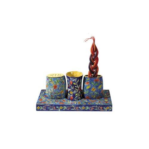 Yair Emanuel Combination Shabbat and Havdalah Set with Oriental Design by World Of Judaica (Image #1)