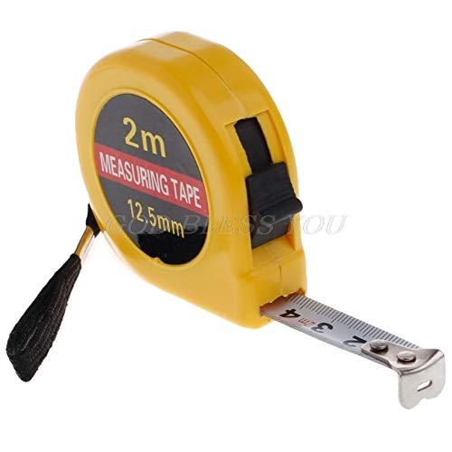 Tape Measures - Multifunction Yellow Case 2 Meter Mini Pocket Tape Ruler Measure Accuracy 1mm - Pink Keychain Wheel Tape Recorder Duty Germany Diameter Outdoor Open Kids Utility Multi Dummies T