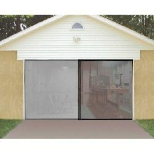 1 car single garage door screen 7 39 x 8 39 bug insect pest for Insect door screen