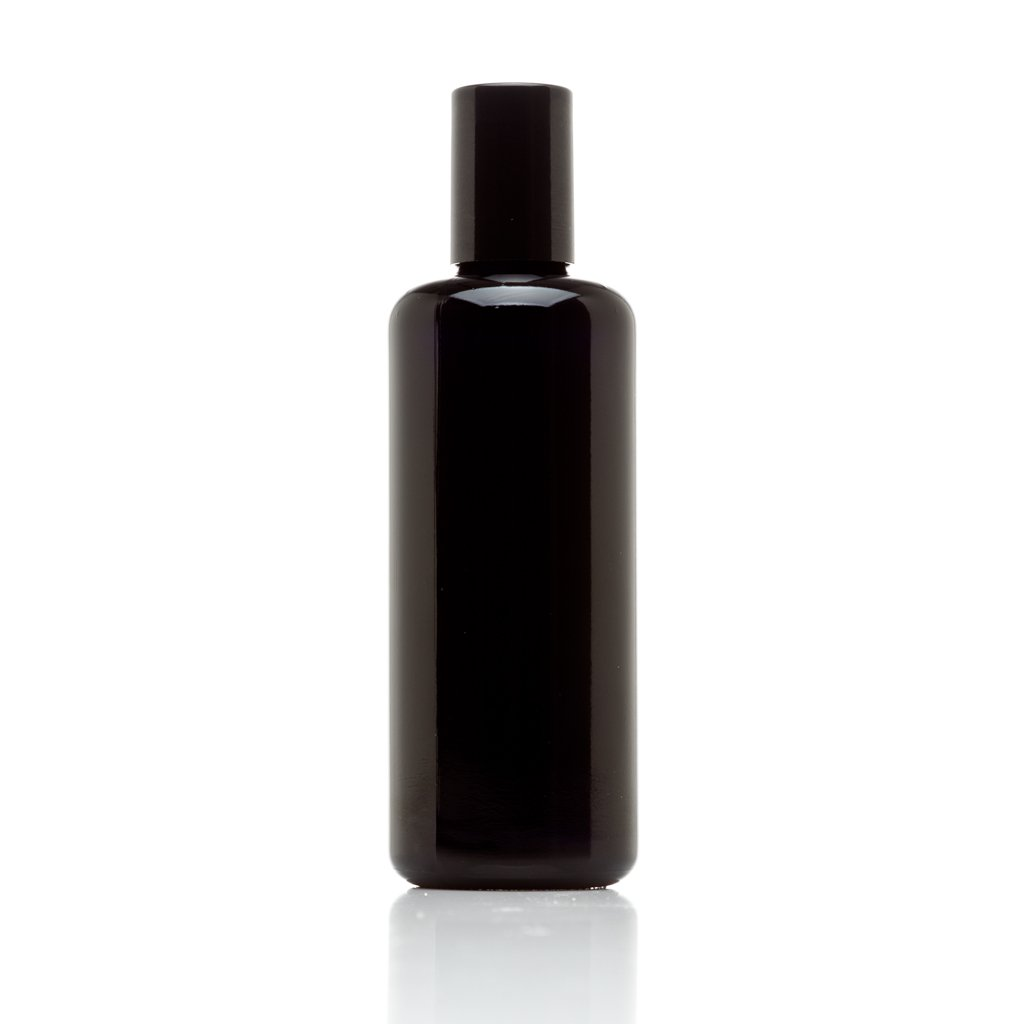 Infinity Jars 100 ml (3.4 fl oz) 10-PACK Set Black Ultraviolet Glass Bottle w/ Glass Ball Roll on Tip