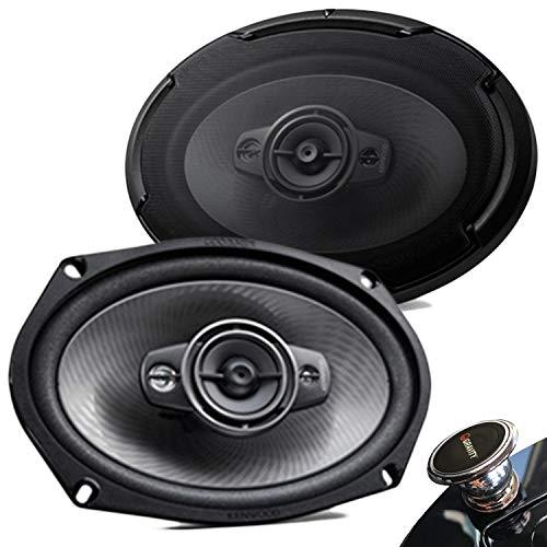 Kenwood KFC-D691 Pair of 600 watt (Peak) 6 x 9 4-Ohms 4-Way Ceramic Super Tweeter Powerful Speakers + Gravity Magnet Holder