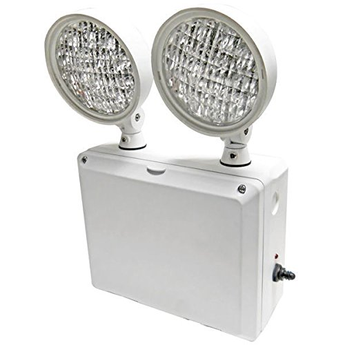 Heavy Duty Emergency Light - Wet Location - LED Lamp Heads - 90 Min. Operation - 120/277V - Gray - Exitronix LEDRX-2-GR (Emergency Lights Wet Location compare prices)