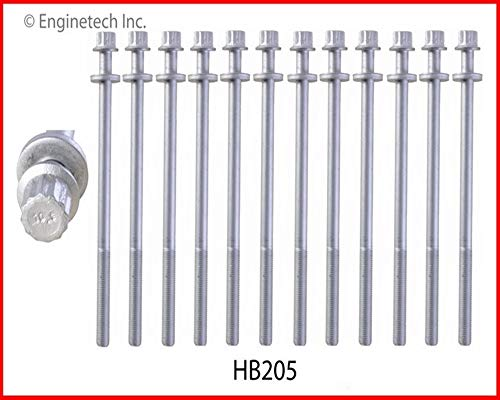 ENGINETECH HB205 HEAD BOLT SET compatible with 1999-2012 SUBARU 2.5L SOHC H4 16V IMPREZA FORRESTER OUTBACK LEGACY BAJA