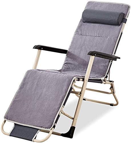 ADHW Reclinable, sillas reclinables Exterior, Tumbona reclinable Ajustable de Aluminio, Plegable Silla de jardín, Sala de Estar Butaca, Tumbona (Color : Grey): Amazon.es: Hogar