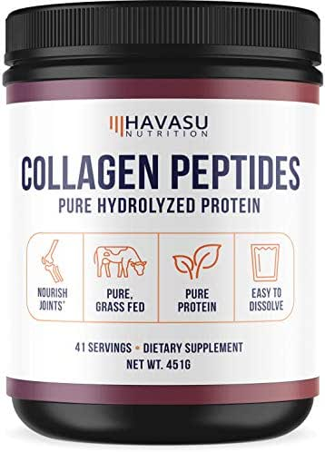 Havasu Nutrition Collagen Peptides Powder with Premium Absorption- Pure Hydrolyzed Collagen Protein - Paleo & Keto Friendly Support for Healthy Joints & Skin - Unflavored, Non GMO, 16 oz