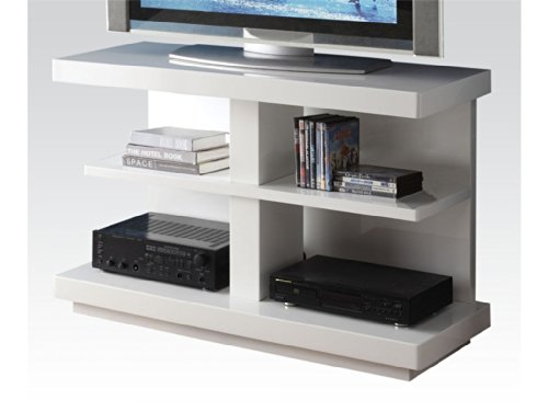 Acme Koren TV Stand, Black White White Finish