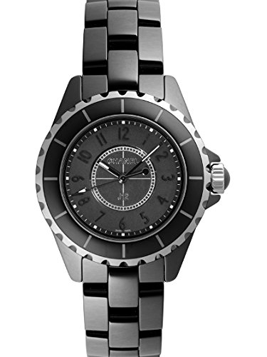 Chanel J12 Black Dial Black Ceramic Ladies Watch H3828