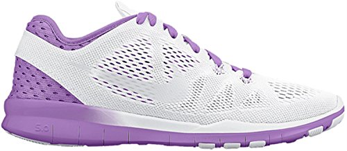 NIKE Free 5.0 TR Fit 5 Breathe Chaussures de training Femme - Blanc/Fuchsia - 41