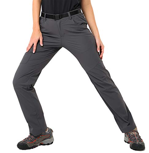 e50b6e6d28e19 MIER Women's Outdoor Quick Dry Hiking Pants Lightweight Cargo Pants with  Elastic Waist, Water Resistant & Stretch, Graphite Grey, S