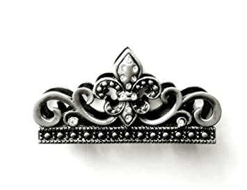 Amazon business card holder for desk with fleur de lis amazon business card holder for desk with fleur de lis crystals pewter office products colourmoves
