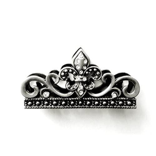 Chic business card holder for desk with fleur de lis crystals chic business card holder for desk with fleur de lis crystals pewter colourmoves