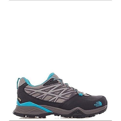The North Face Hedgehog Hike Gore-tex, Chaussures de Randonnée Basses Femme - Gris (Steeple Grey/Bluebird Gub), 41 EU
