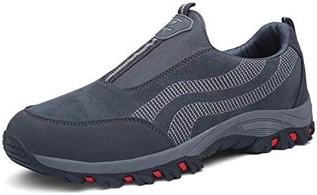 PAMRAY Zapato Hombre de Deportivos Fitness para Caminar Running Trailing Loafer Calentar Suede Zapatillas Slip on Breathable Negro Azul Gris 39-44 (Gris, 46 EU): Amazon.es: Deportes y aire libre