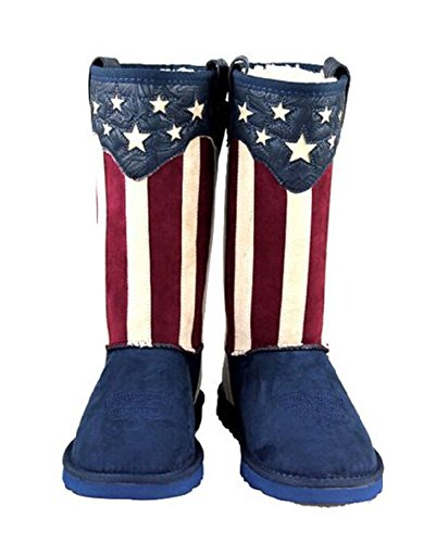 Montana West USA Star Flag Boots Patriotic Boots Red White Blue (8)